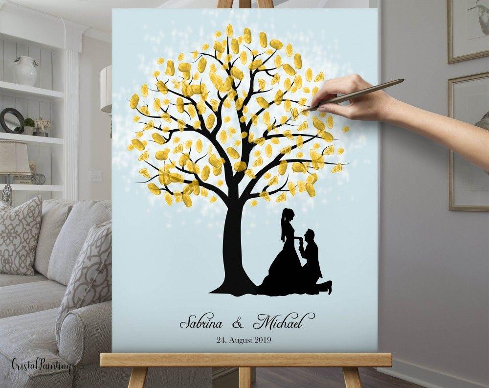 Perfektes Hochzeitsgeschenk | Fingerabdruck Hochzeitsbaum Wedding Tree Fingerabdruck Baum