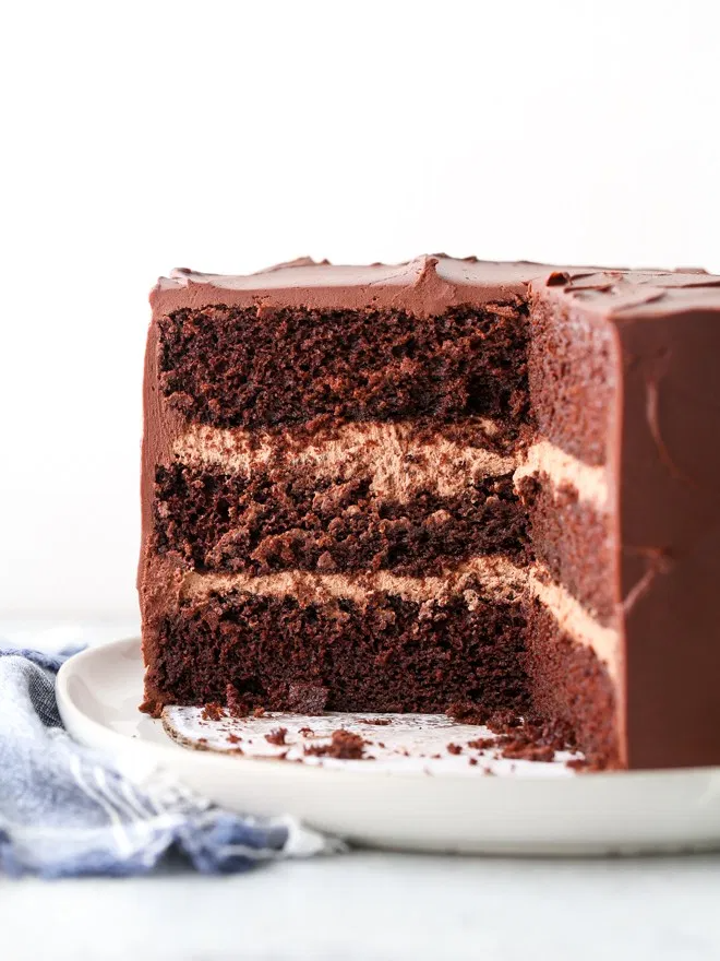 Chocolate Sour Cream Cake Completely Delicious Recipe In 2020 Sour Cream Chocolate Cake Sour Cream Cake Cream Cake