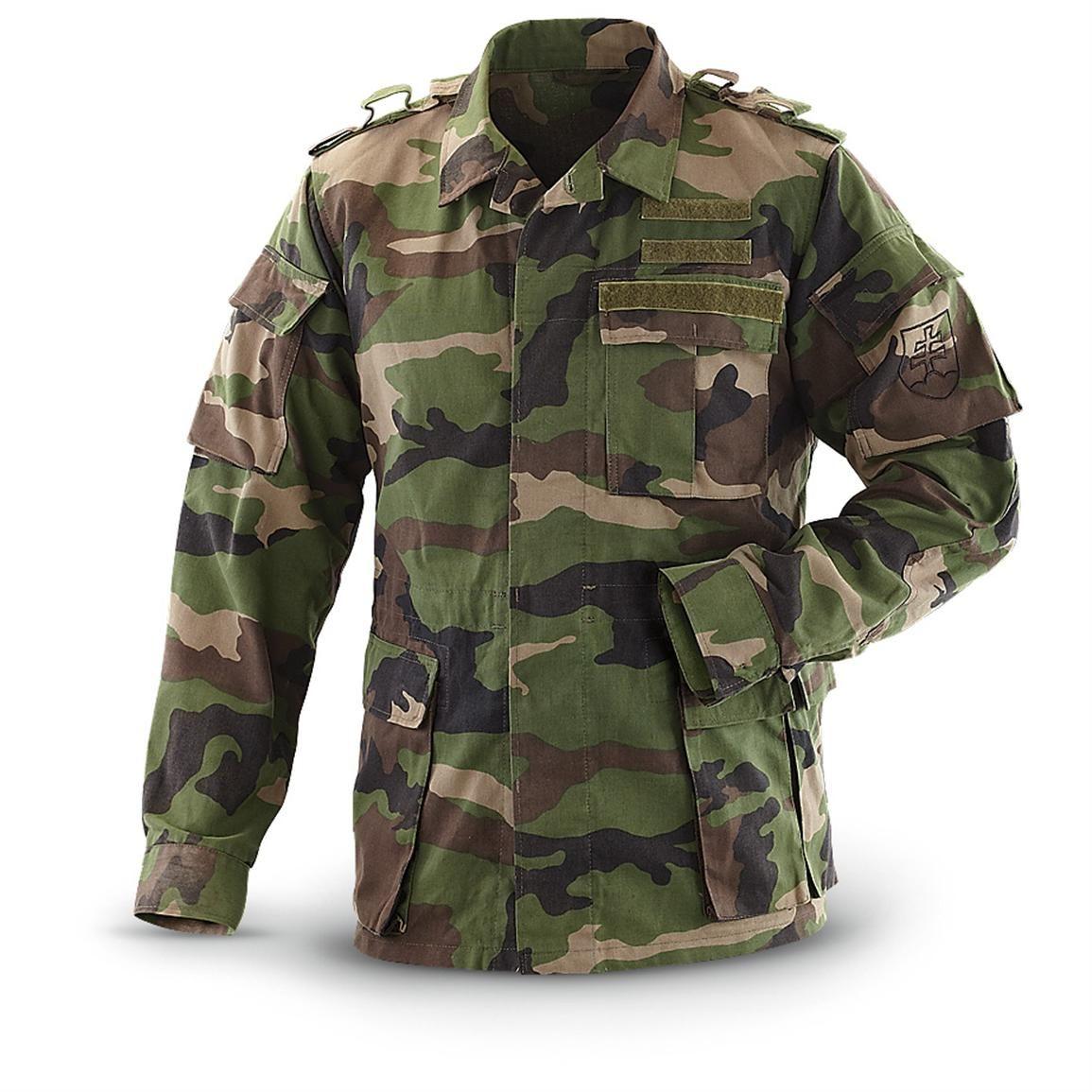 Vintage mILITARY Jacket Camo Lightweight Military SurplusCoat Camouflage Jacket Grösse 8 Size Medium CiYoxjDxf