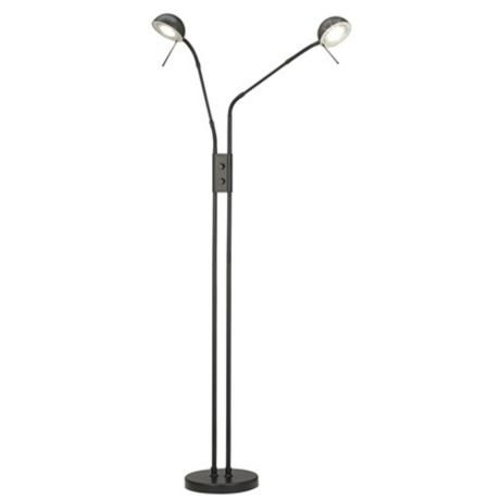 Add directed task lighting with this contemporary black floor lamp with dial gooseneck arms from the 360 lighting collection of floor lamps