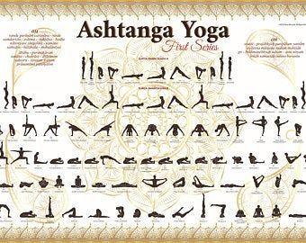 printable ashtanga primary series yoga poster em 2020