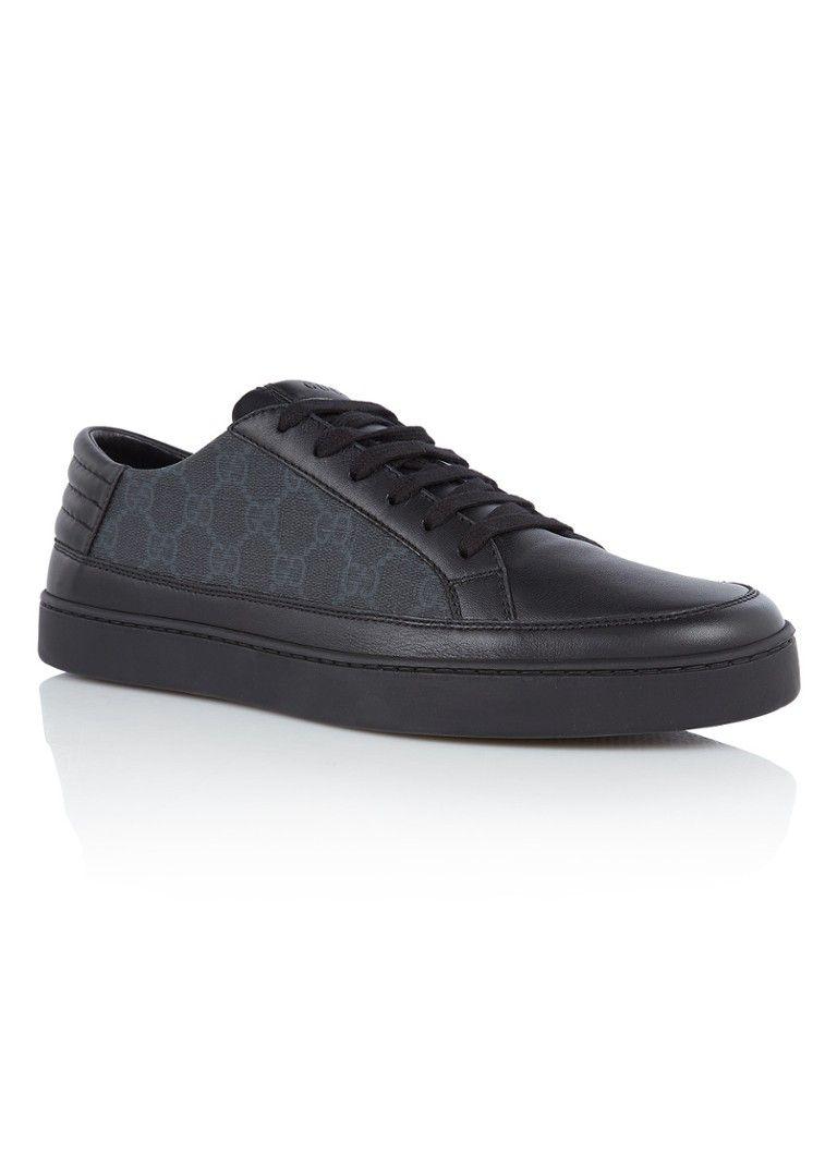 50416d607fc Gucci GG Supreme sneaker met leren details • de Bijenkorf