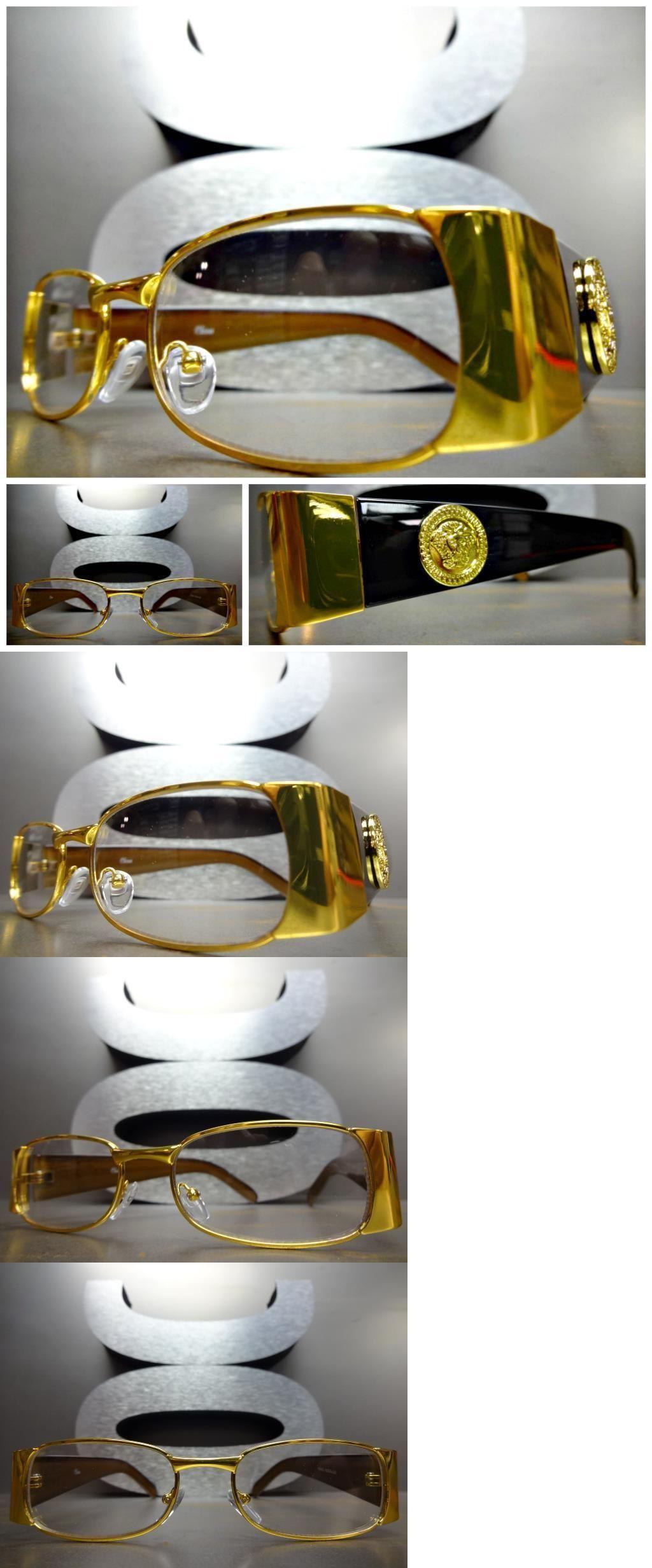 32c0ff44177 Fashion Eyewear Clear Glasses 179240  Mens Classic Vintage Retro Style  Clear Lens Eye Glasses Gold Black Fashion Frame -  BUY IT NOW ONLY   699.99  on eBay!