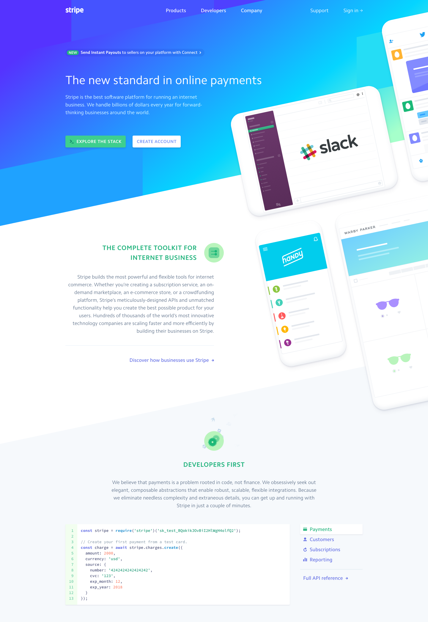 Stripe Landing Page Design - Best Web Designs & UI