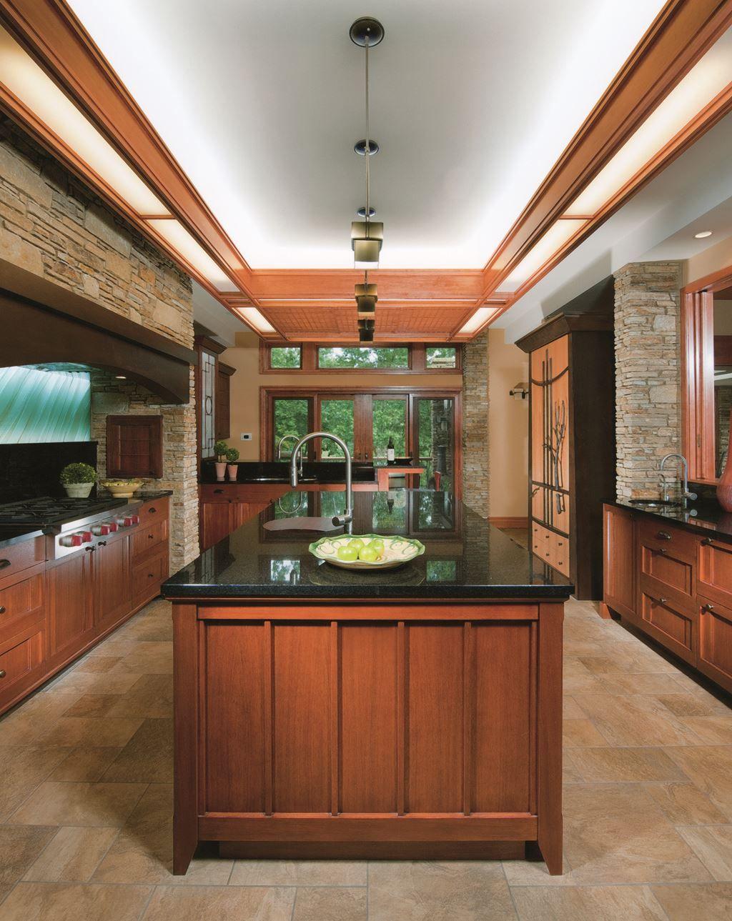 Image result for prairie kitchen | Craftsman kitchen ...