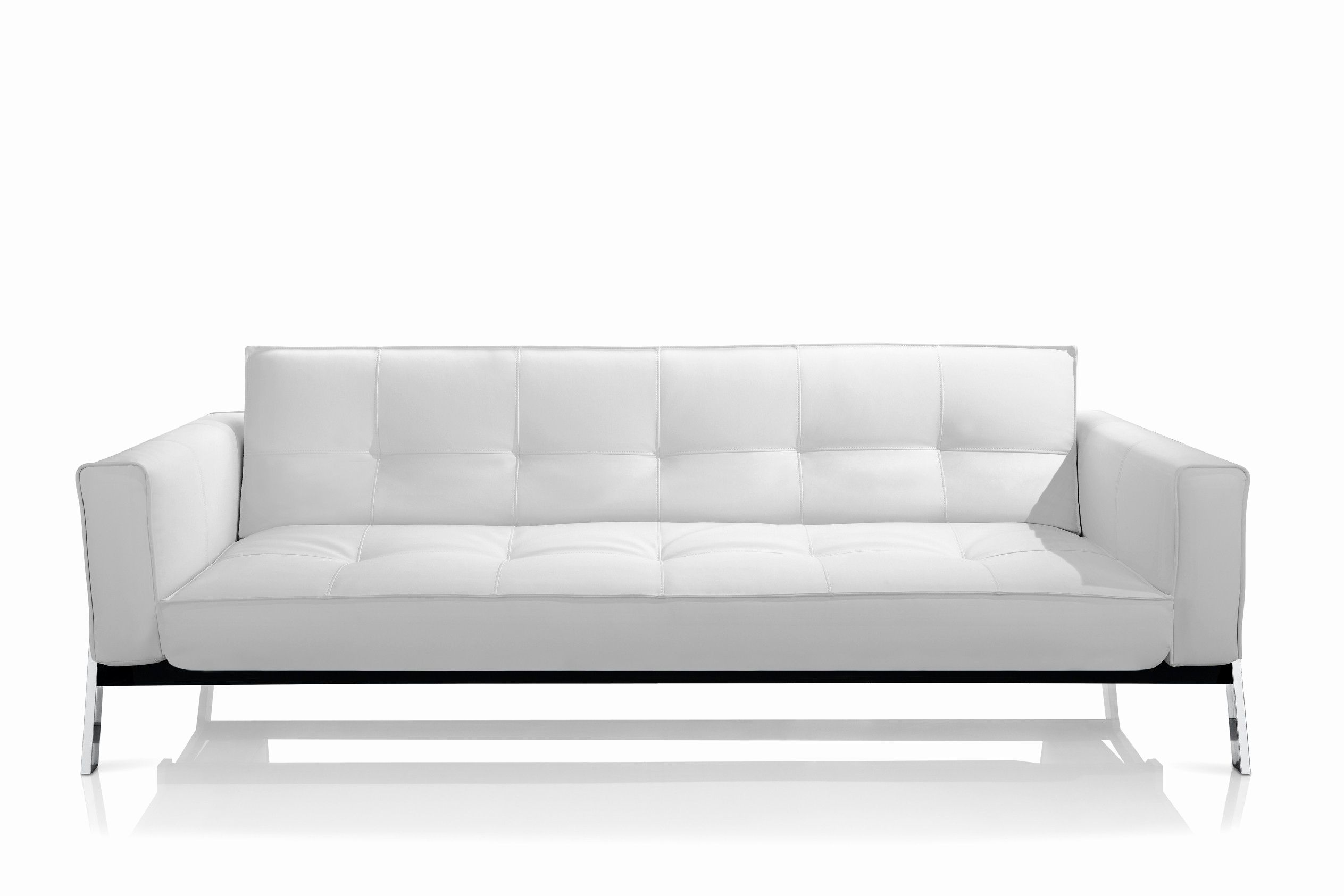 Awesome Contemporary Leather Sleeper Sofa Shot Contemporary