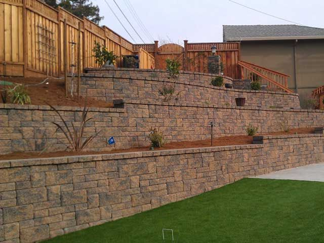 Terrace Retaining Walls On Slopes Terraced Retaining