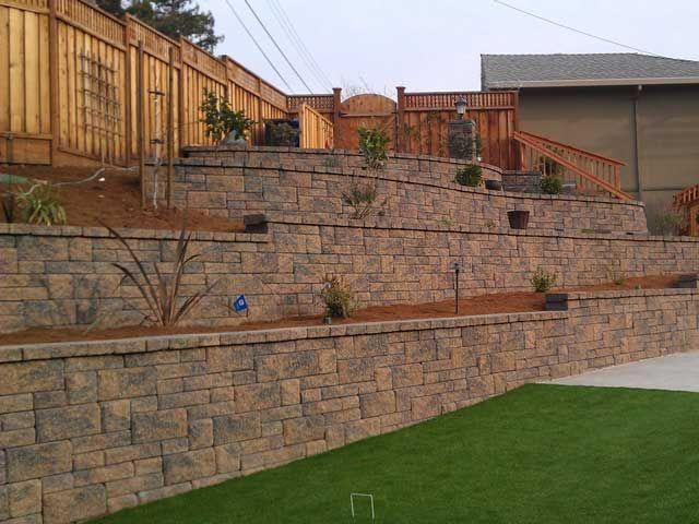 Terrace Retaining Walls On Slopes Terraced Retaining Walls Help