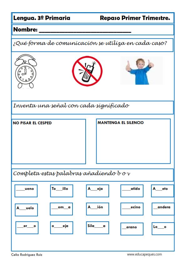 Tareas Ejercicios Y Actividades De Lengua Para Niños De Tercer Grado Lectura De Tercer Grado Lectura De Tercero Tercer Grado
