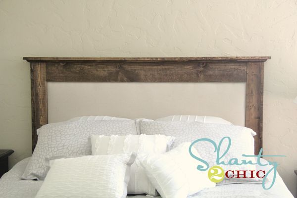 Oh, I Kinda Like This Headboard Too! The Perfect Combo Of Dark Wood (for  Tim!) And Gorgeous Fabric (for Me!)