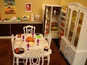 Sindy Dining Room Set I Remember All The Cutlery And Plates And