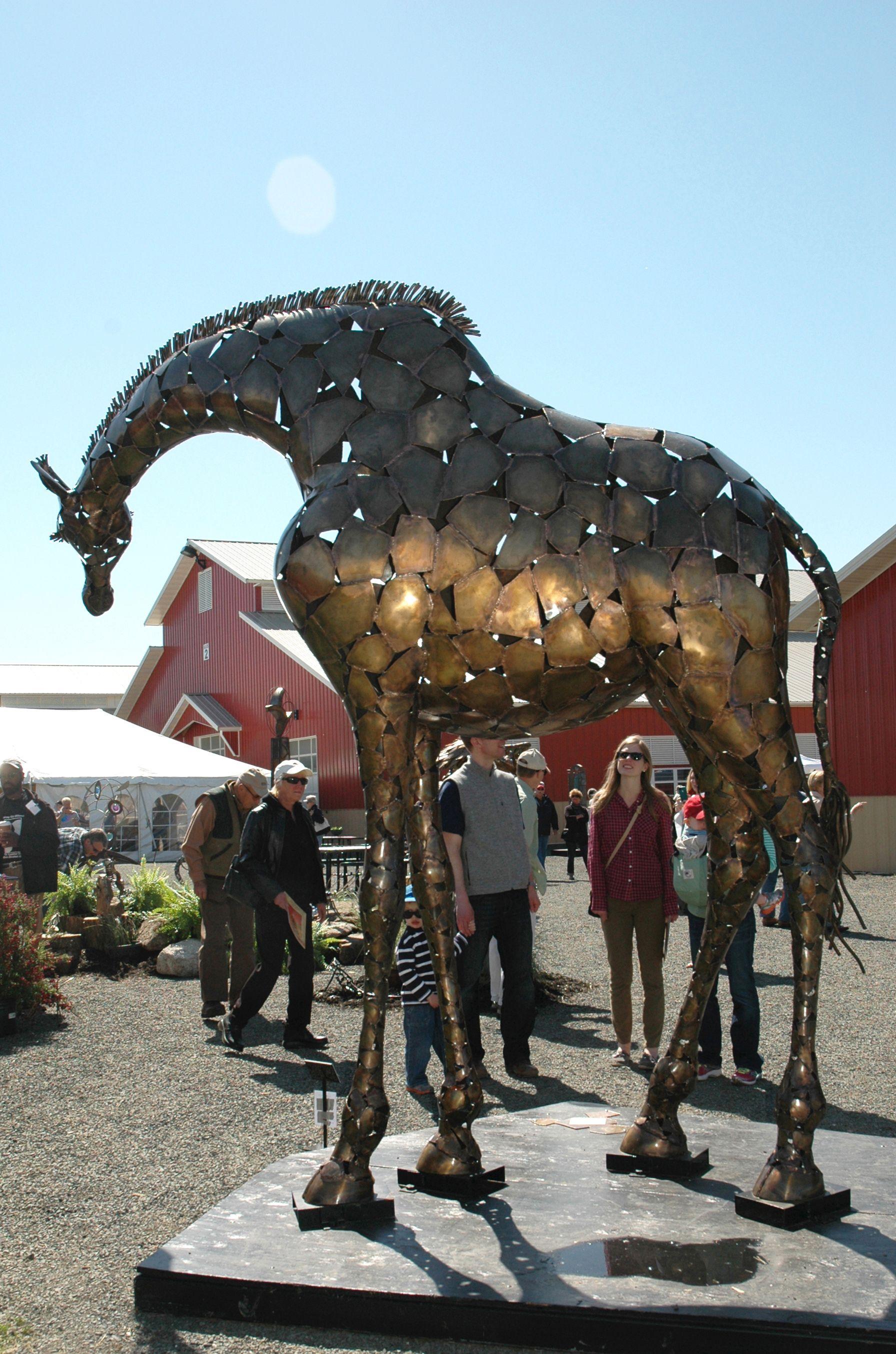 Chris Williams (metal Giraffe) · Animal SculpturesGarden ...
