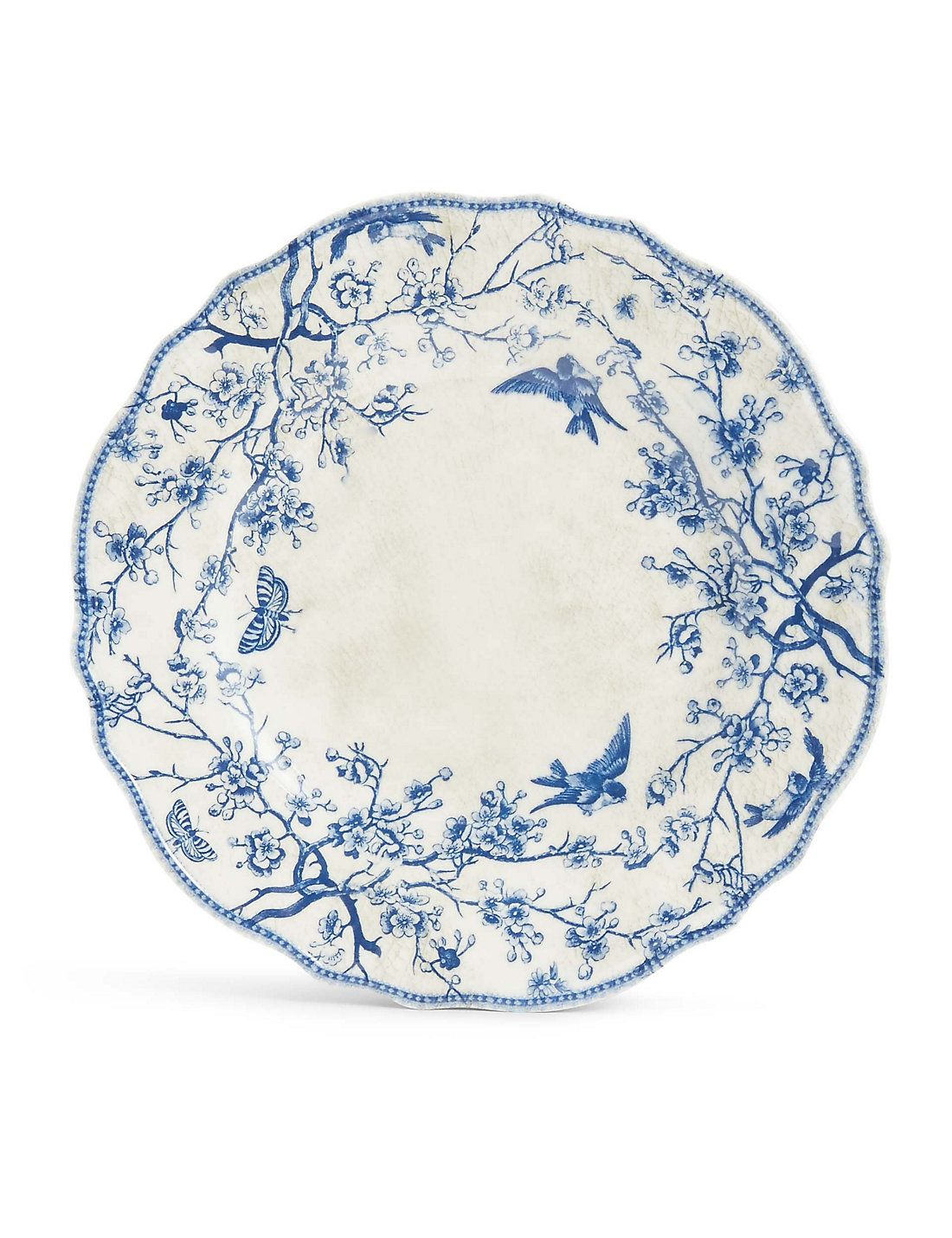 Dovecote Melamine Side Plate Plates Side Plates Blue And White China