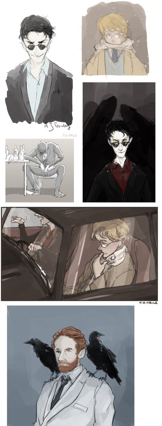 Good Omens Sketches by Tio-Trile