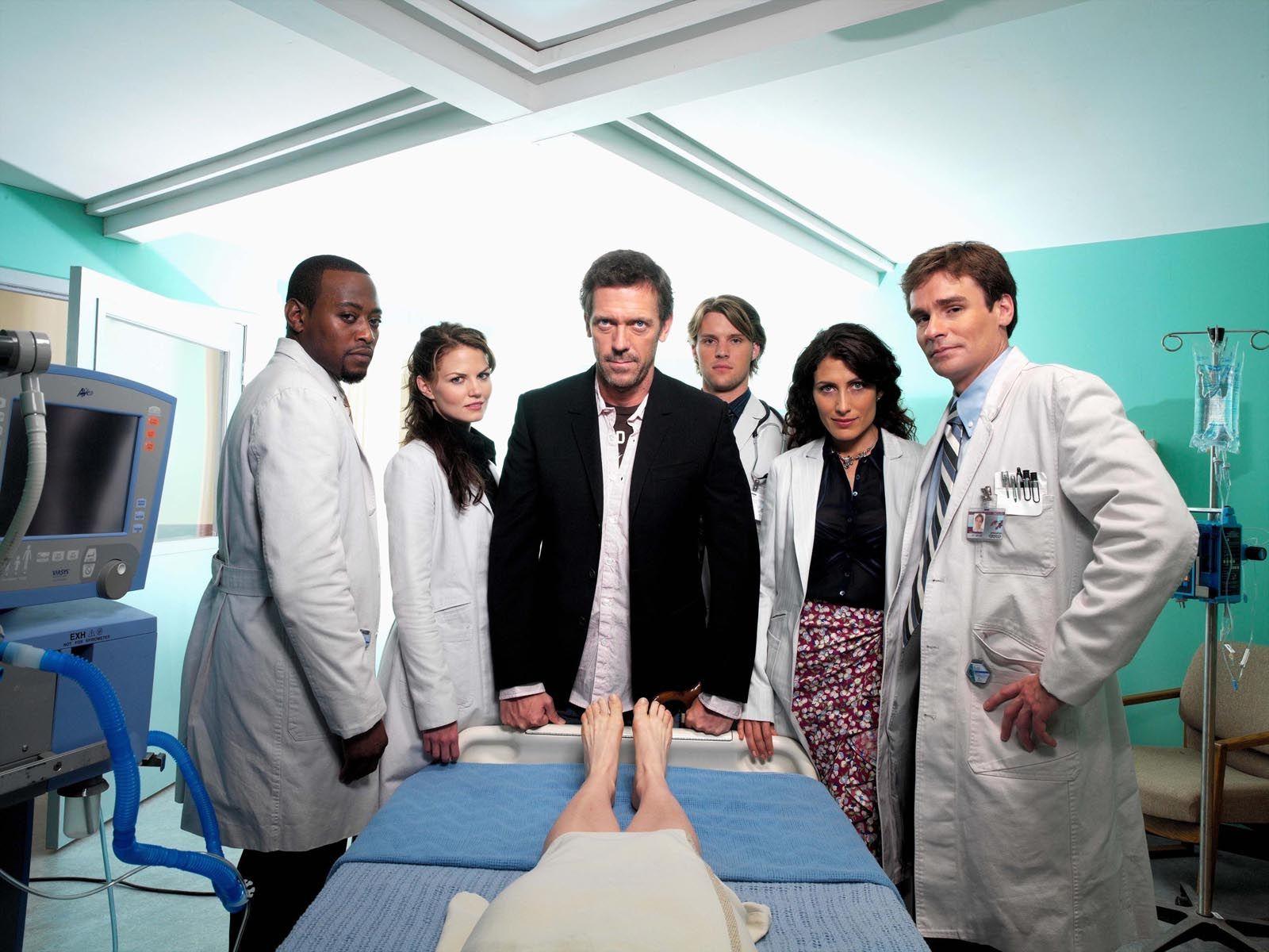 The original cast! (House, Hugh Laurie, Lisa Edelstein