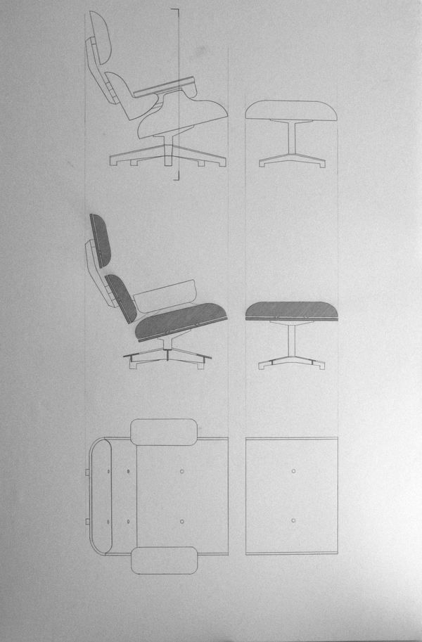 Beautiful Simple Perfectly Designed Eames Lounger Eames Chair Drawing Technical Drawing