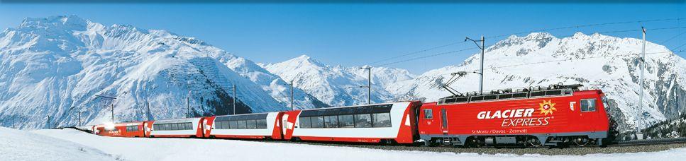 Glacier Express - Zermatt to St. Moritz.