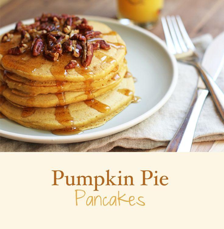 Easy Pumpkin Pie Pancakes yummmmmm.