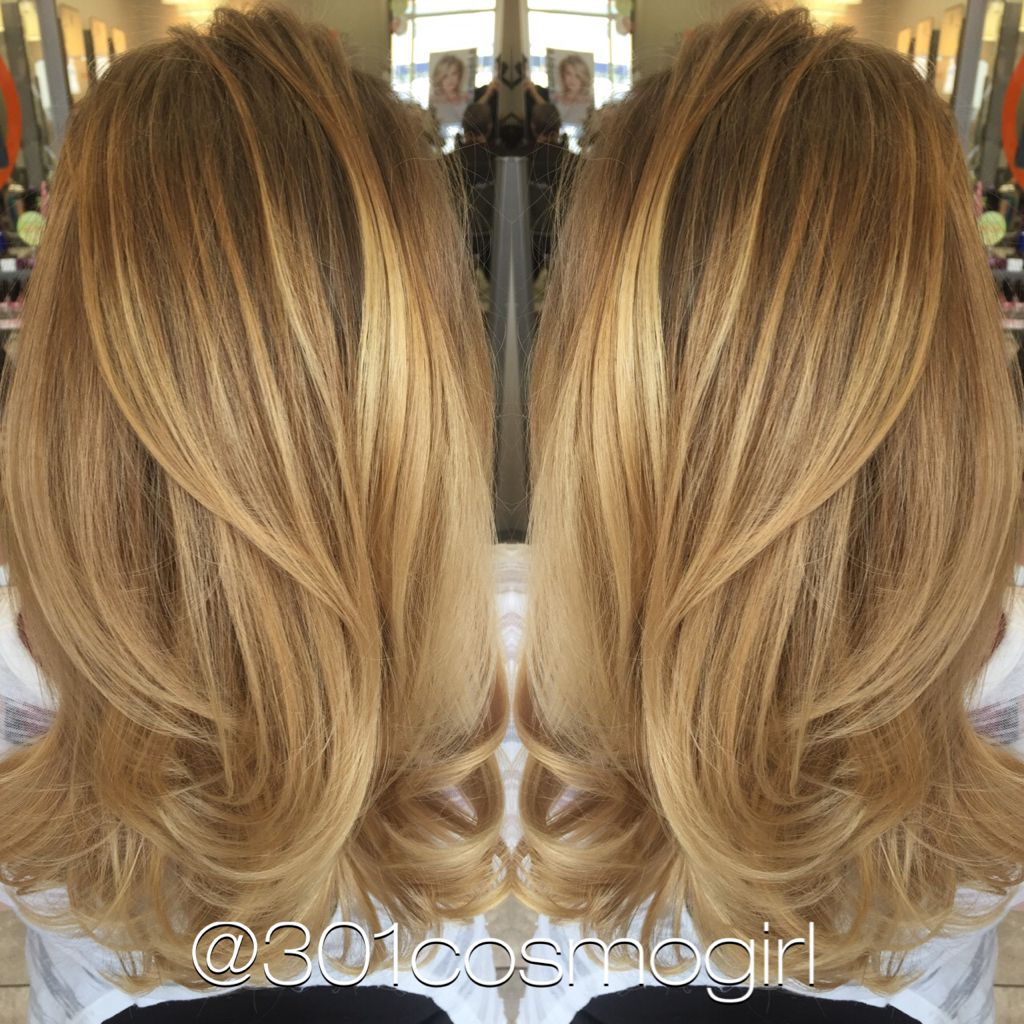 Absolutely in love with this caramel blonde balayage i did today beautiful golden caramel with - Balayage blond caramel ...