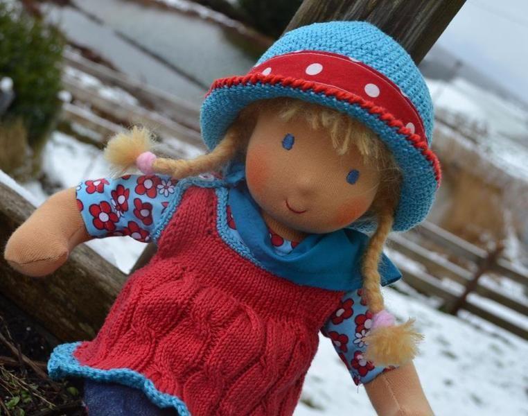 Bienchen ♥  Stoffpuppe - 40cm von Hermis Puppenstube  - ♥ -  Puppenmachen ist Herzenssache - ♥ - Stoffpuppen zum Liebhaben gemacht ! auf DaWanda.com