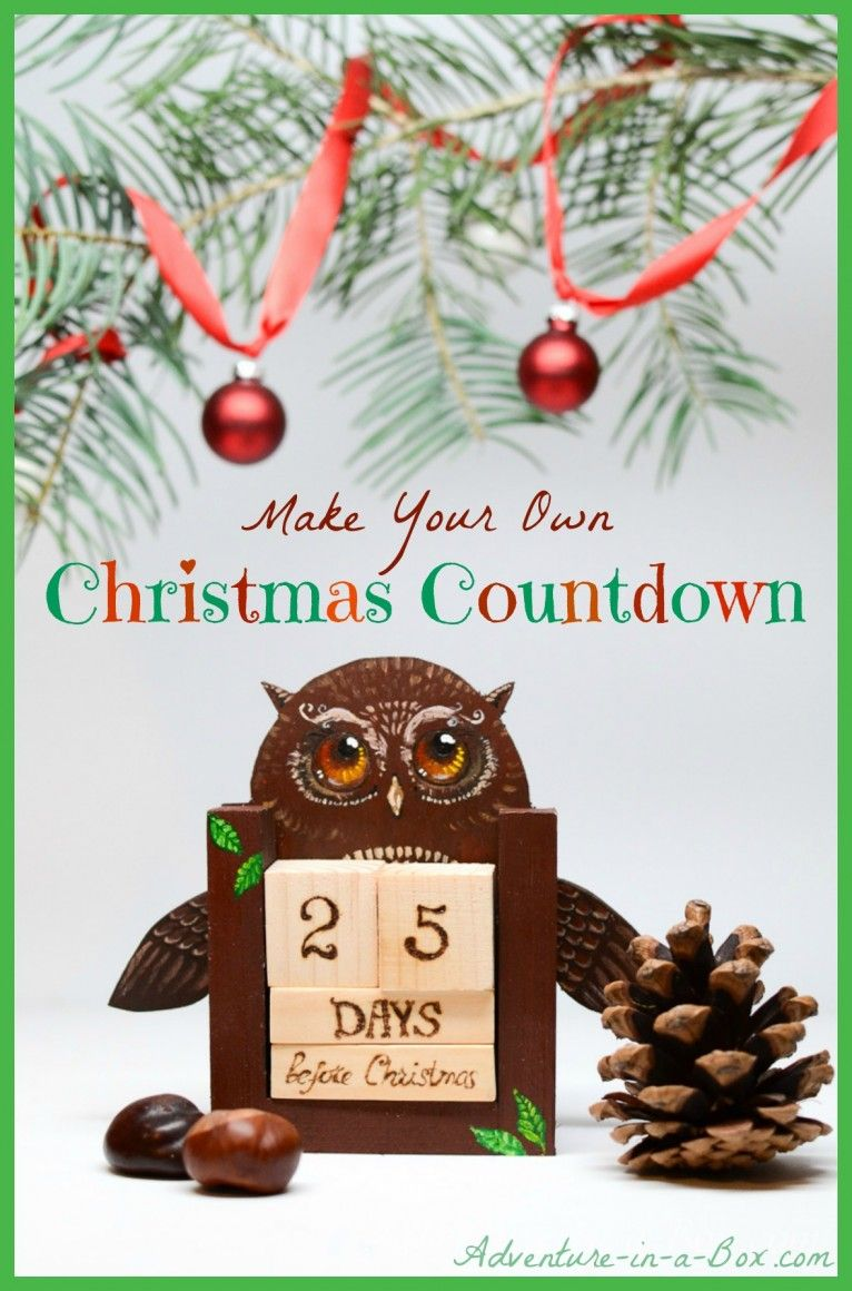 christmas is many days away but if you are a kid it may be time to start counting them using old wooden blocks help children to make a countdown - How Many Days Away Is Christmas