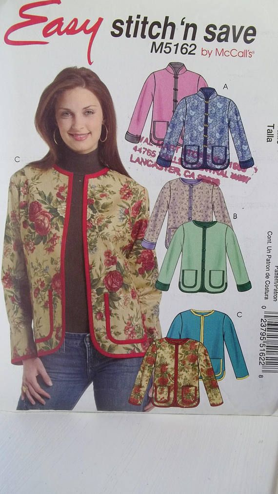 Women\'s Plus Size Jacket McCall\'s M5162 Sewing Pattern | For Those ...