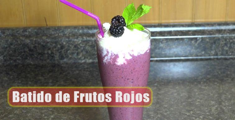 Batido de Frutos Rojos / Recetas / Casayfamiliatv.com