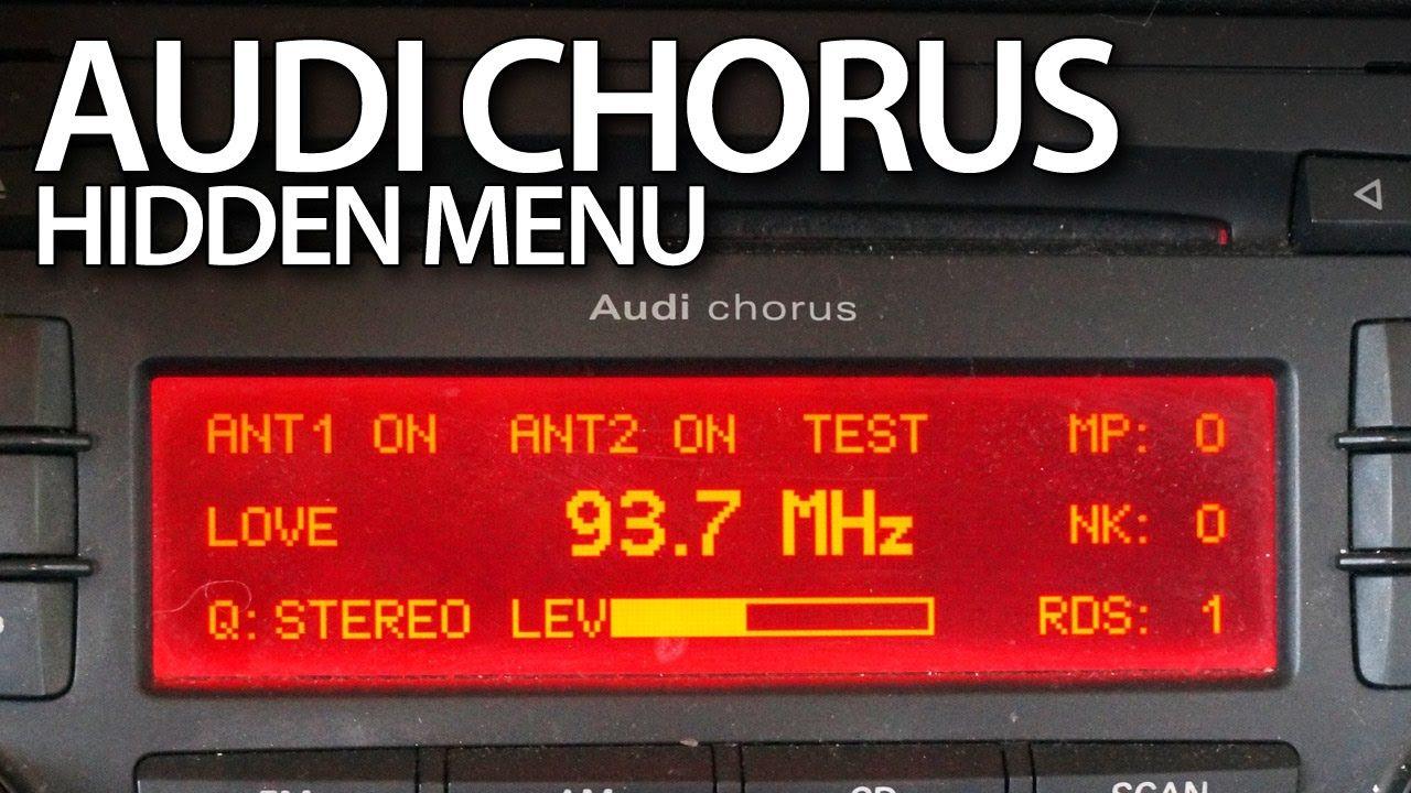 Audi A3 8p Chorus Radio Hidden Menu Service Mode Cars