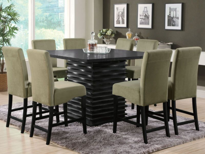 Modern Dining Room Sets For 8  Home Interior Design And Alluring 8 Pc Dining Room Set Design Ideas