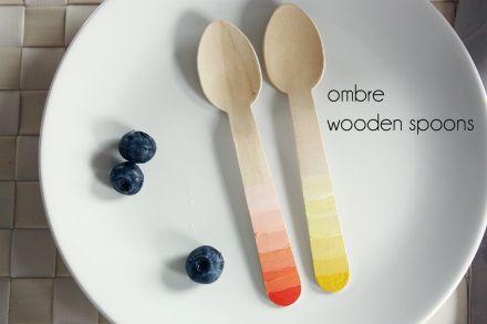 wooden spoons DIY