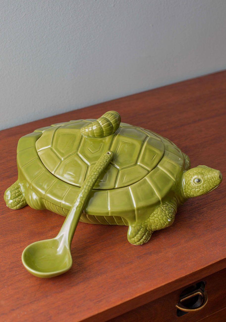 I Put A Shell On You Soup Tureen Modcloth Tortoise Turtle Figurines Turtle