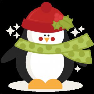 christmas penguin svg scrapbook cut file cute clipart files for rh pinterest com Penguins Christmas Tree Clip Art Penguin Christmas Tree