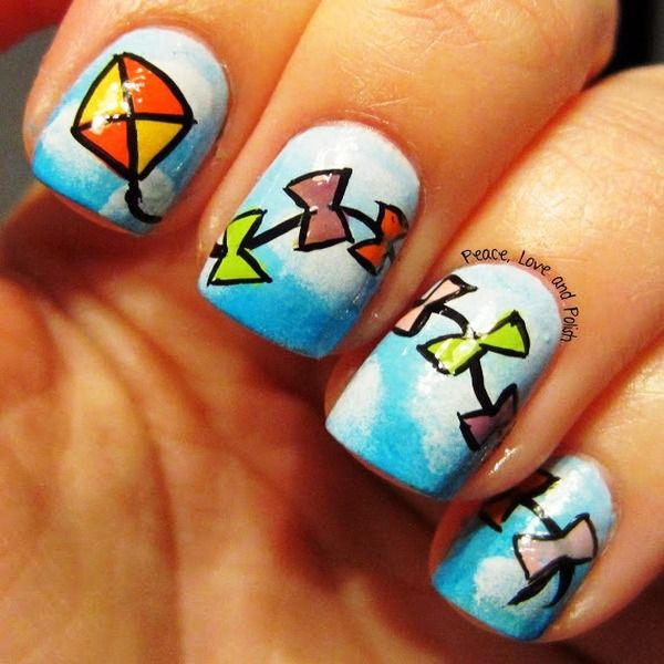 Who Would Like To Have These Kite Nail Arts? - http://www ...