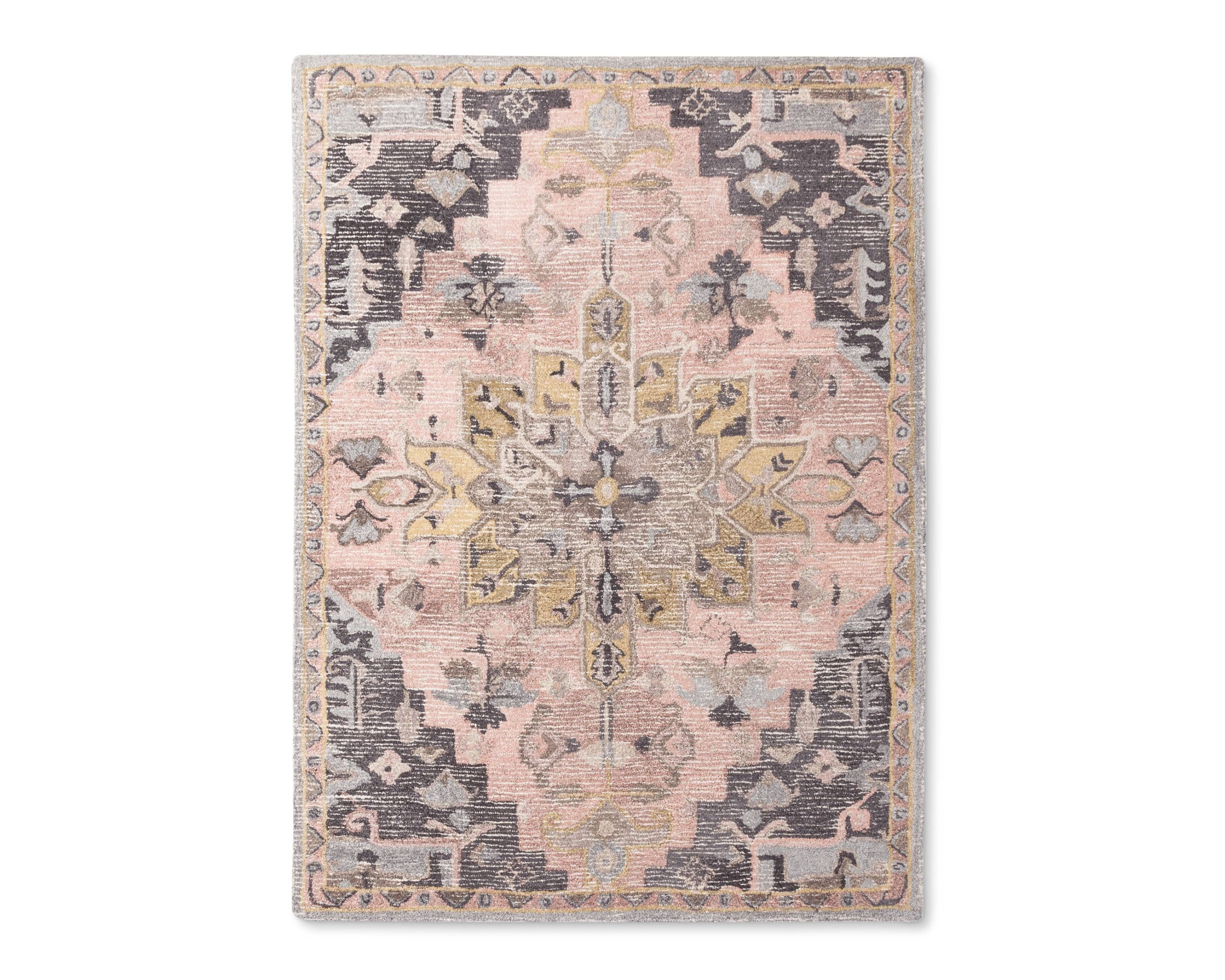 Pink And Gray Vintage Wool Rug Target Https Www P Tufted Area Threshold A 51583782