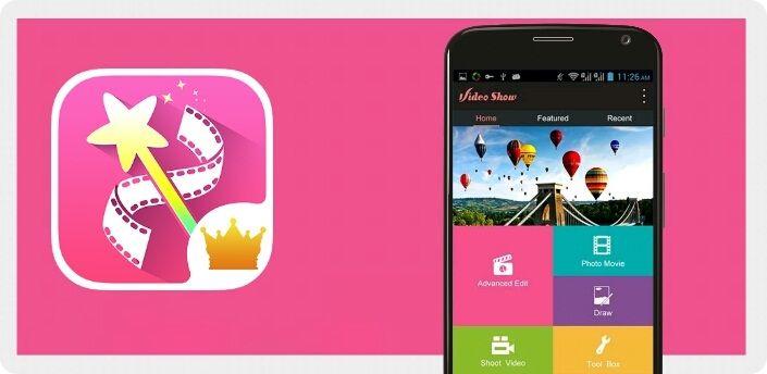 برنامج Videoshow لعمل وصناعة الفيديو من الصور للاندرويد Video Editor Video Android Video