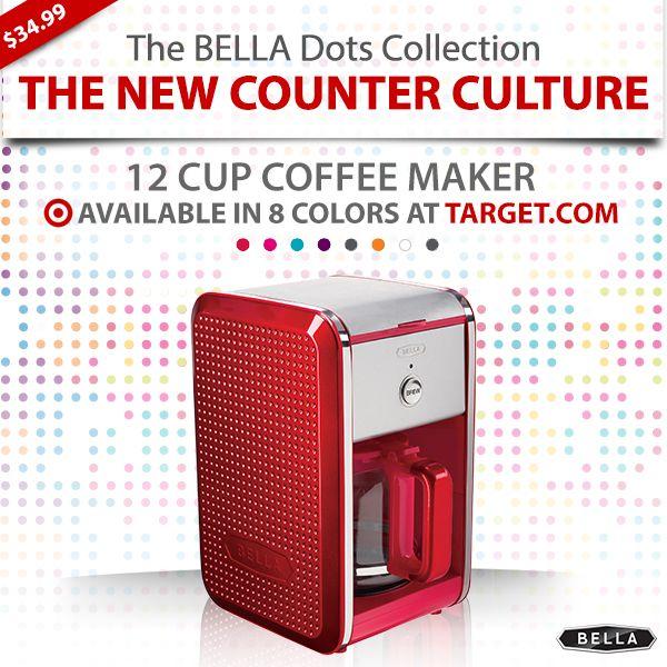 Bella Dots Coffee Maker Red : If I drank coffee, I d possibly buy this. Bella Dots 12 Cup Coffee Maker - Red USD 34.99 #BellaDots ...