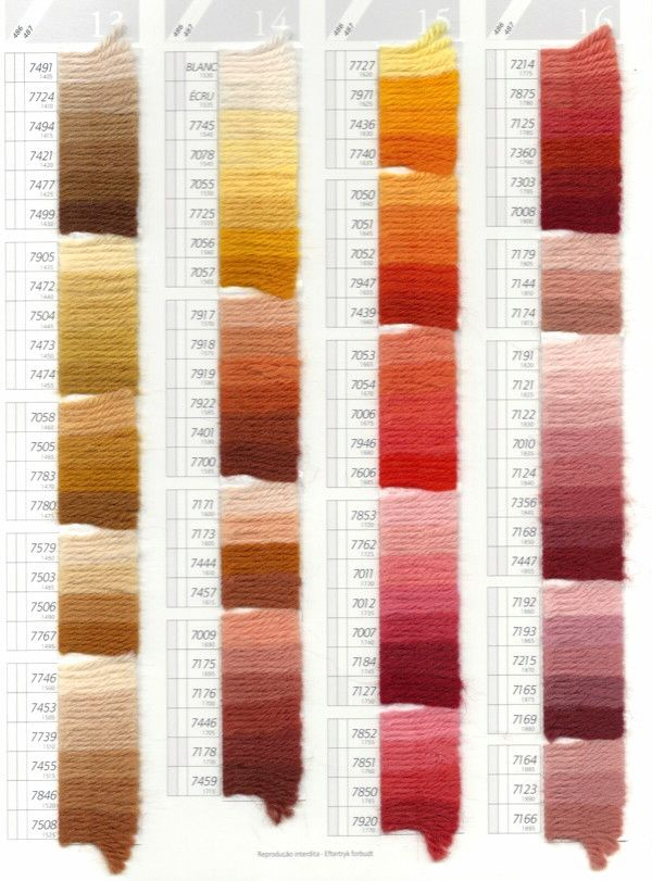 Dmc Tapestry Wool Color Chart Scan Pg 4