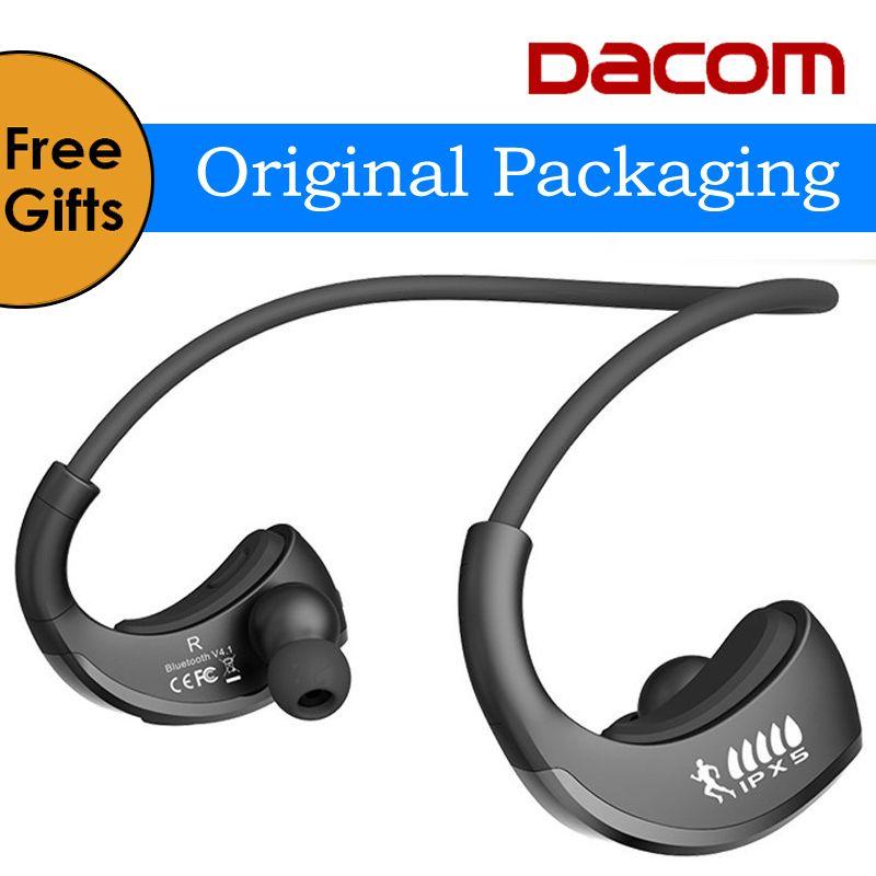 원래 dacom 갑옷 g06 ipx5 방수 스포츠 헤드폰 무선 블루투스 v4.1 이어폰 귀 후크 실행 헤드셋 마이크