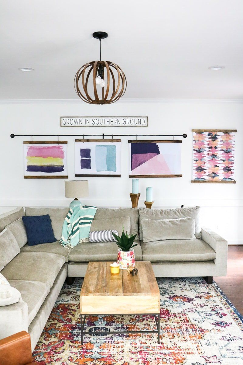 Don't let your budget keep you from a home you love! These 5 EASY interior design tips teach you how to update your rooms for under $100. Some are even free! #interiordesign #interiordesigntips #budgetdecorating #budgetdesign