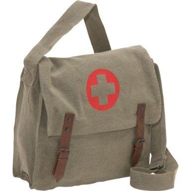 Amazon.com: Rothco Vintage Medic Bag w/ Cross (Khaki): Clothing