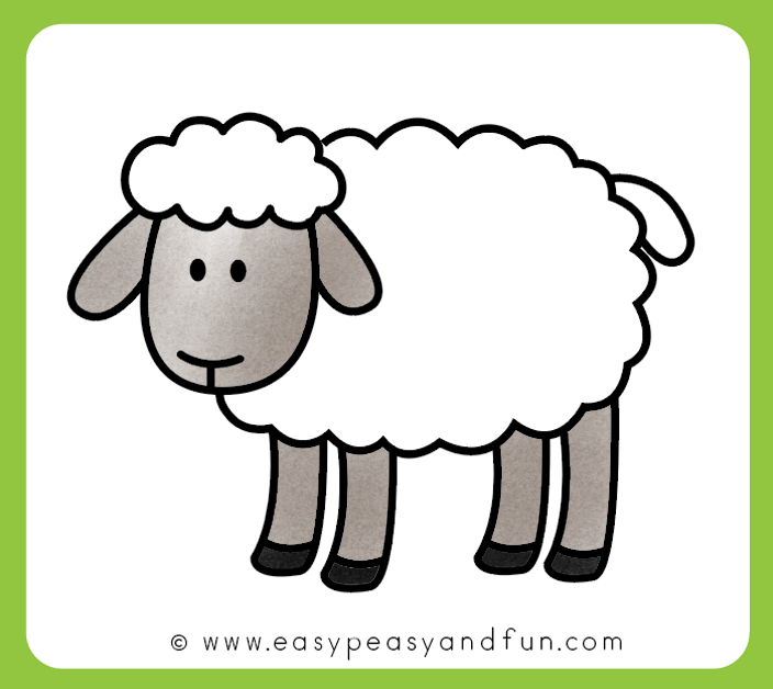 How To Draw A Sheep Step By Step Sheep Drawing Tutorial Sheep Drawing Embroidery Sheep Sheep Art