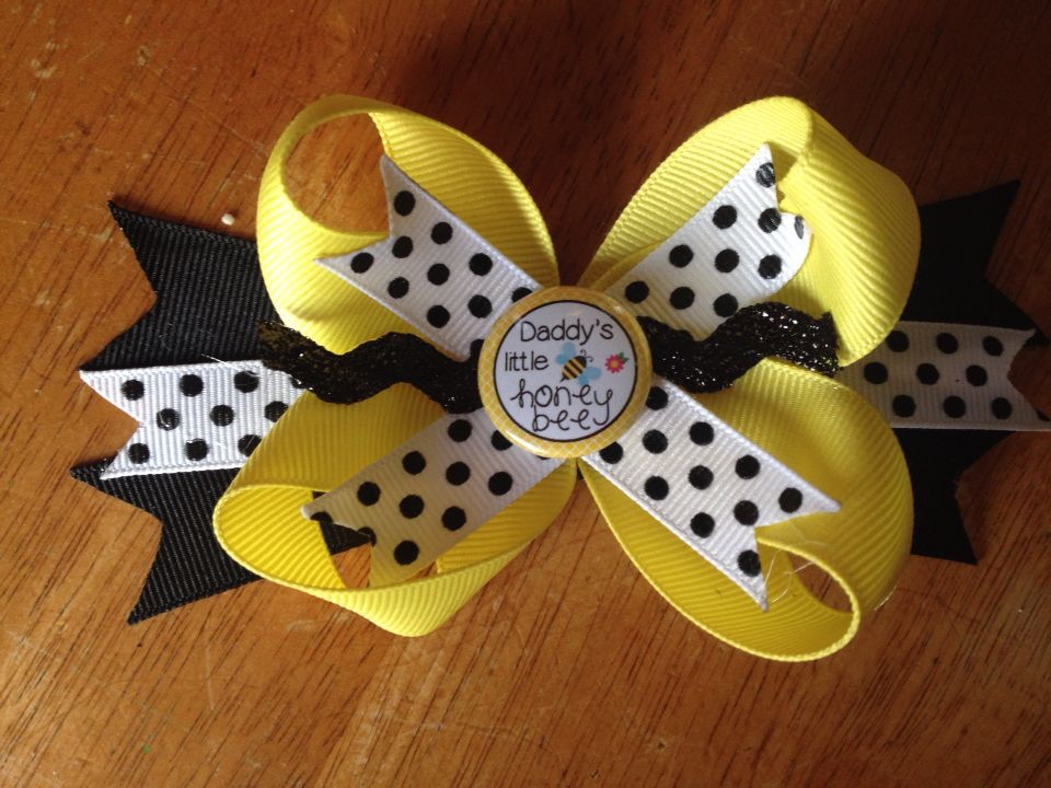 Daddy's little honeybee bow i want this for emmagrace