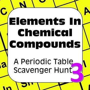 Periodic table of the elements scavenger hunt elements in chemical periodic table of the elements scavenger hunt elements in chemical compounds urtaz Choice Image