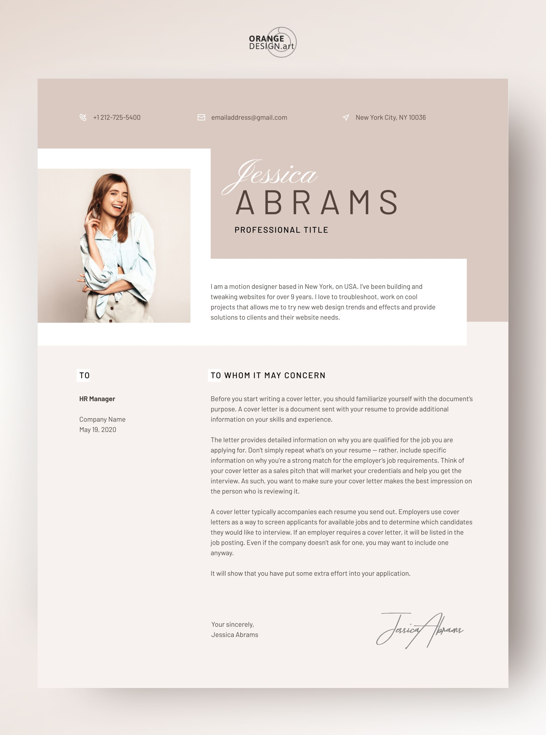 Resume Template Word 2020 Professional Cv Template With Photo Modern Cv Design Creative Resume Template Free Curriculum Vitae Abrams In 2021 Resume Template Cv Template Professional Resume Template Word