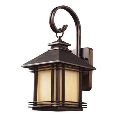 """Loon Peak Federal Heights 1 Light Outdoor Wall Lantern Size: 16"""" H x 8"""" W x 9"""" D"""
