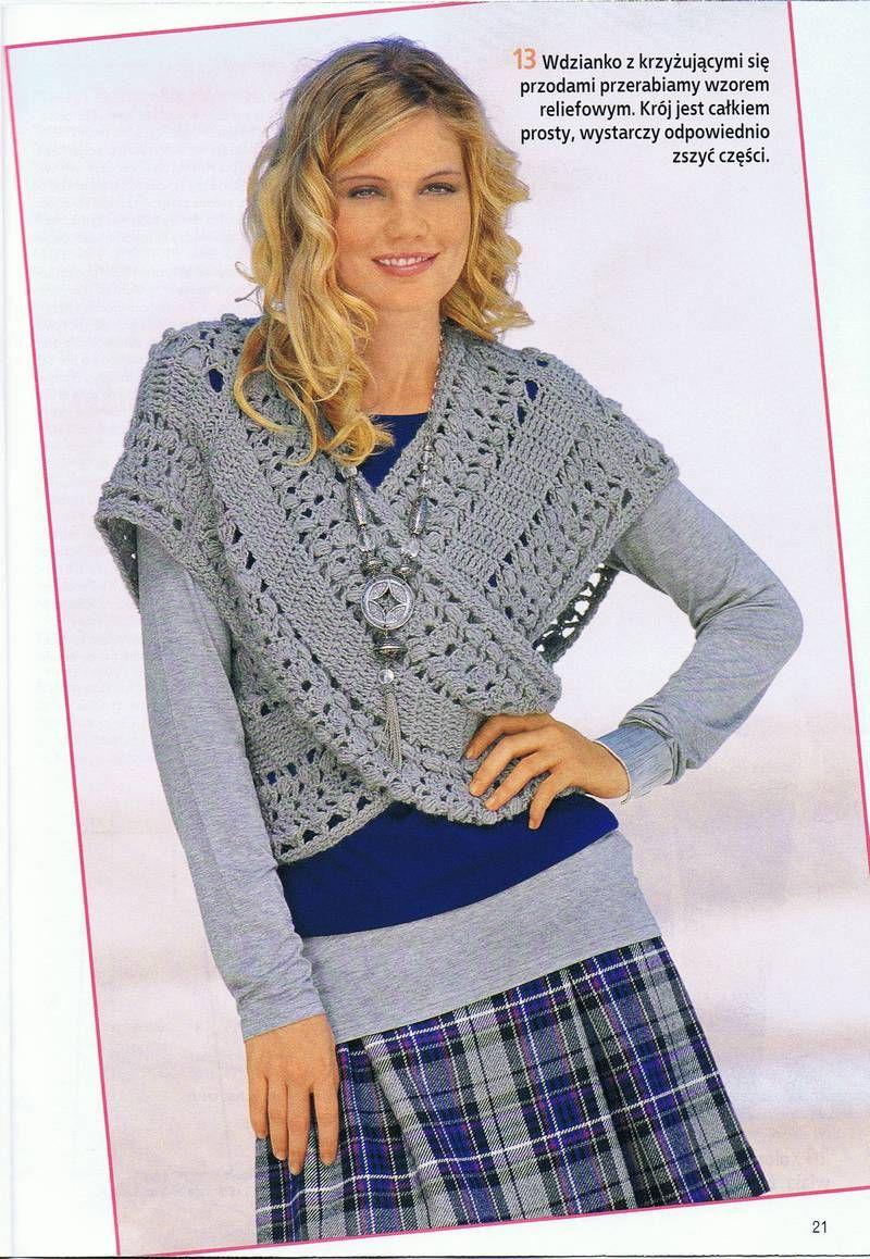 Patrones para Crochet: Bufanda Chaleco Cruzado Patron | bufandas ...