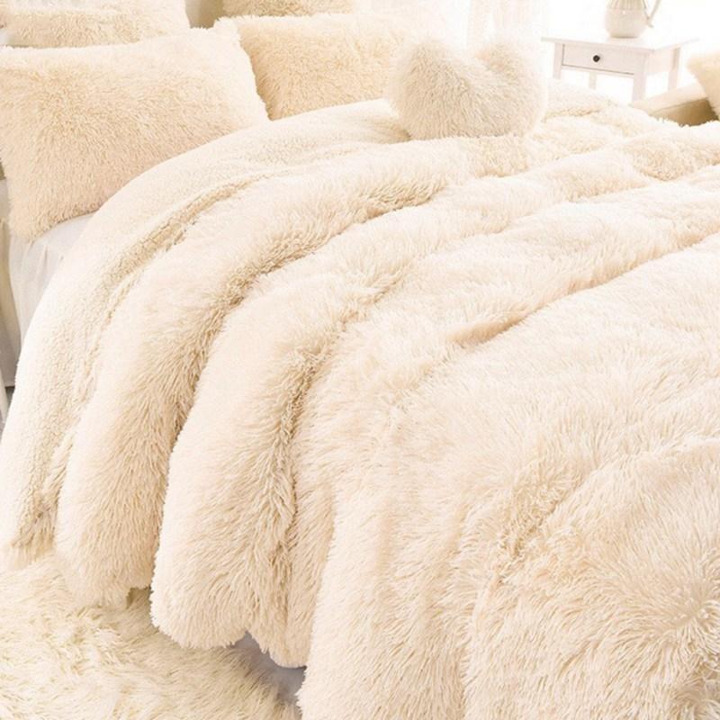Warm Cozy Soft Thick Luxury Faux Fur Throw Blanket Fluffy Sofa Cushions On Sofa Fluffy Blankets