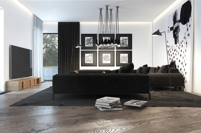 Black And White Living Room Designs With Trendy And Perfect Decor Shown Their Monochromatic Ideas Monochrome Living Room Black Living Room Modern Living Room Black