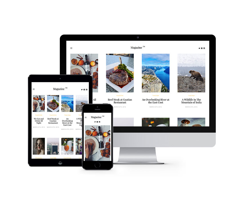Magazine Free HTML5 Bootstrap Website Template Freebies Bootstrap ...
