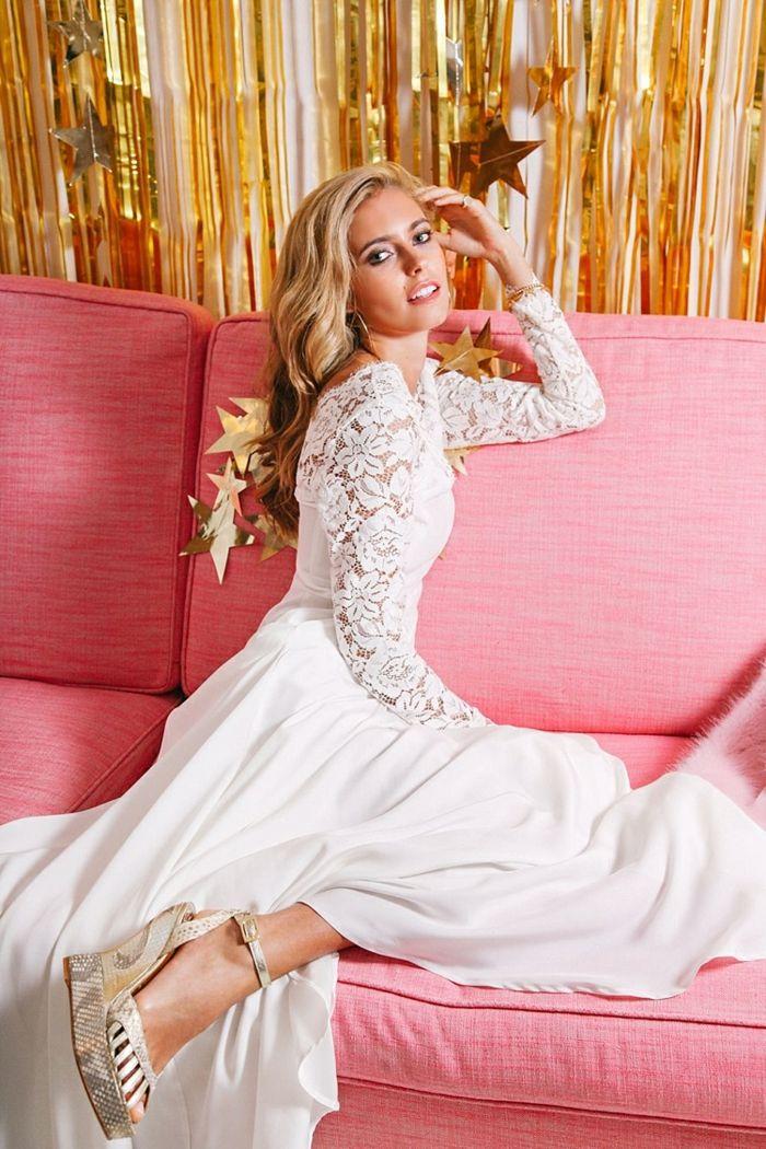 ▷ 1001 + ideas de vestidos de novia sencillos para tu boda | Pelo ...